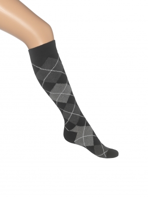 Argyle Knee-High