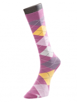 Colour Argyle Knee High