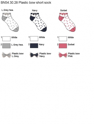 Plastic Bow Short Sock
