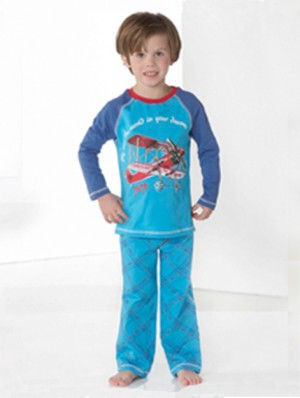 Boys Pyjama Fresh Blue plane