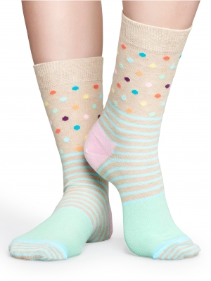 Stripe & Dot Sock