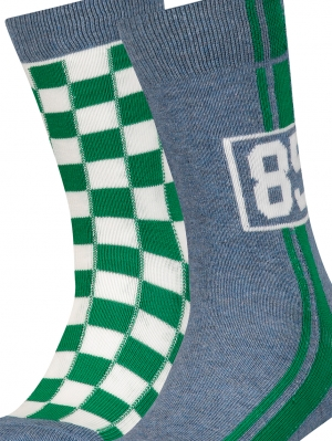 Boys Racing Sock 2-Pack