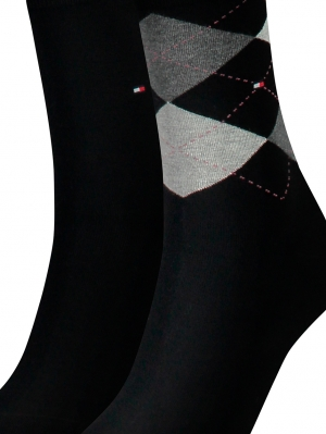 2 Pack Woman Check Sock